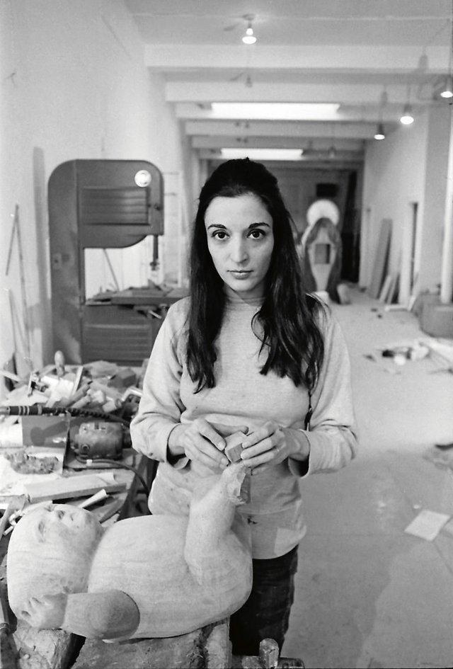 Marisol in her studio