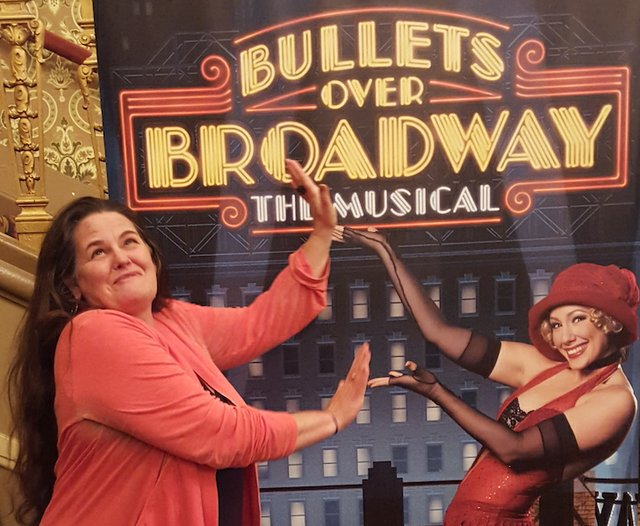 Take your own goofy picture at Bullets Over Broadway