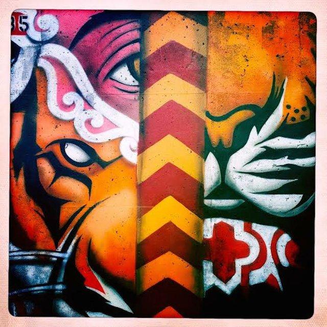 Mural artists at Crosstown Arts