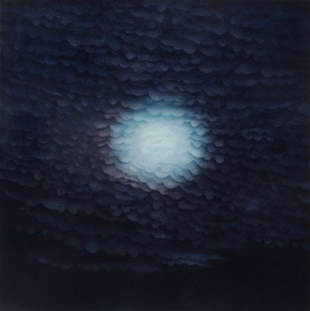 Nightfall: Clouds and Moon