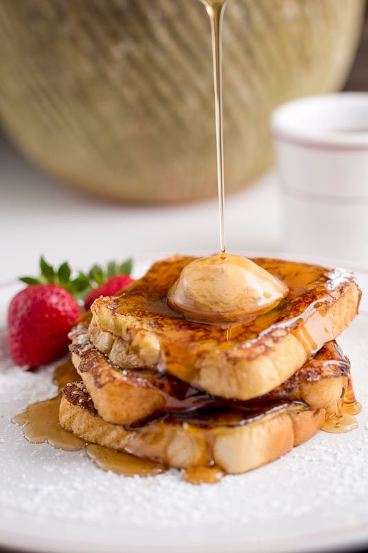 Custard-fried French toast