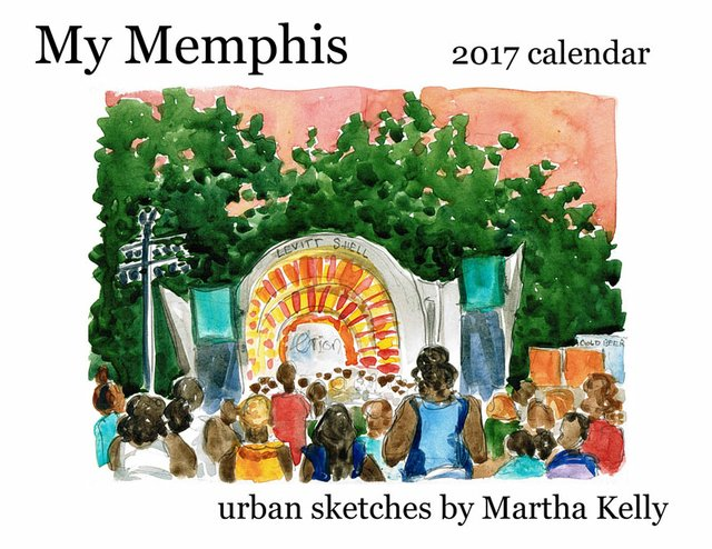 My Memphis Calendar by Martha Kelly