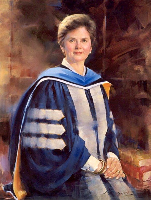 Dr. Shirley Raines, President, Univ. of Memphis, oil, 32x40.jpg