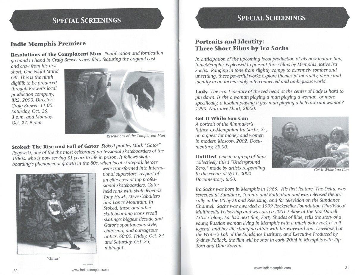 Indie Memphis Program, 2003 - Memphis magazine