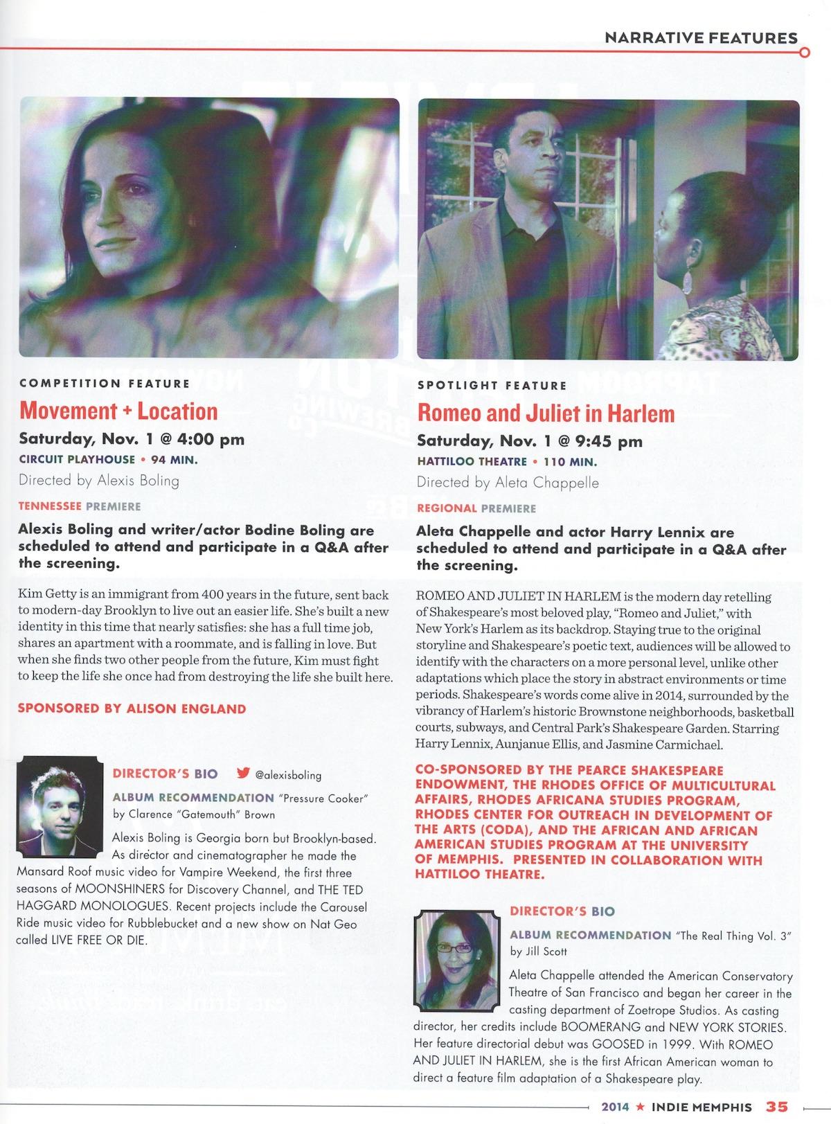 Indie Memphis Program 2014 Magazine Circuit Works La Nutrition Plan Brochure