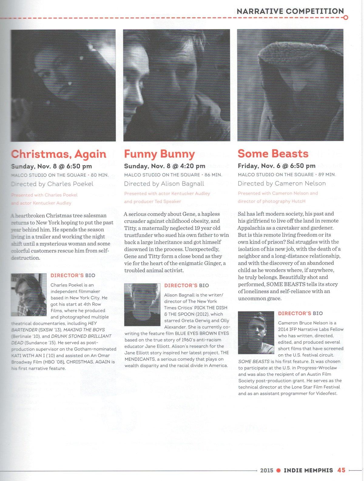 Indie Memphis Program, 2015 - Memphis magazine