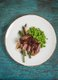 Lamb with Peas, Asparagus, & Cherry Sauce