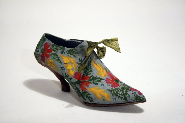 Blue Shoes with Flowers
