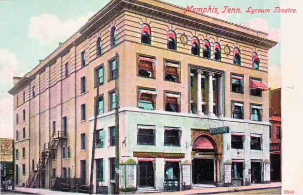 This building at Second and Jefferson was once the gathering place for Memphis society.