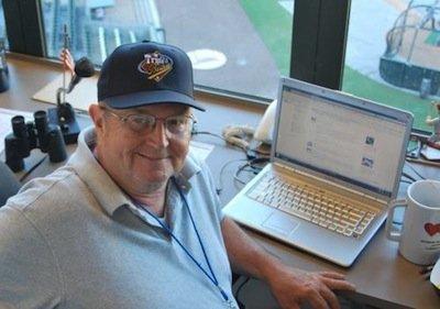 John Guinozzo in the Press Box