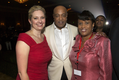 Tammie Ritchey, Executive Director of The MED Foundation; Peabo Bryson; and Marsha Evans, Donor Relations/Gifts Coordinator of The MED Foundation
