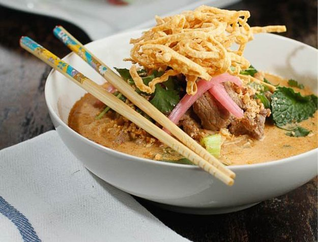 Pleasing to the palate is Do's kobe beef noodle bowl.
