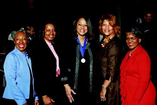 L-R: Imogene Stansbury, Karen Bryant, Rose Flenorl, Jewel Wilburn & Inetta Rogers