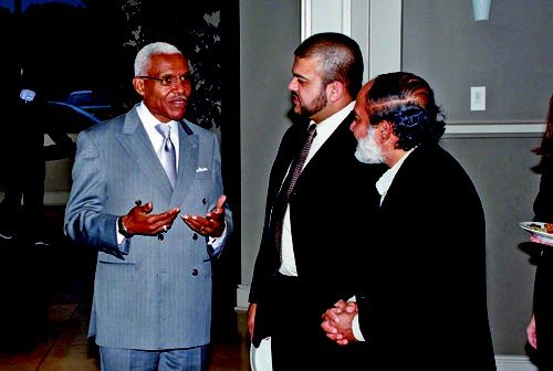 Mayor AC Wharton with Danish Siddiqui (middle) & Dr. Muhammad Zaman