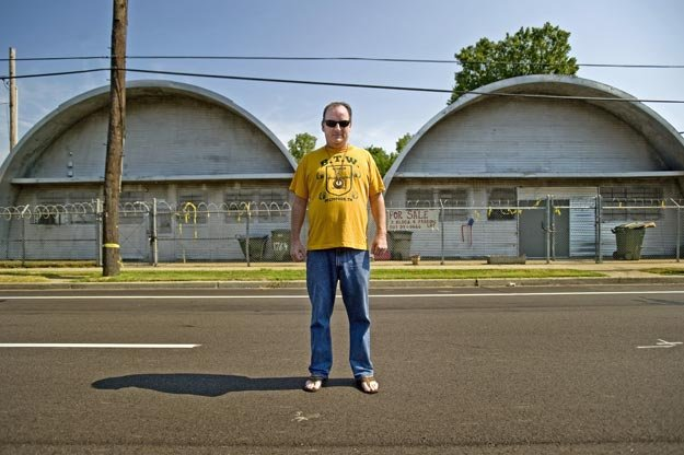 Sherman Willmott stands at 1746 Chelsea, where Plastic Products once operated. Plastic Products mastered and pressed many of the early Sun, Meteor, Stax, and other various independent rockabilly, blues, and soul records.