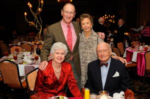 Lucia Gilliland and Dan Copp, seated Jim Gilliland and Nancy Copp, standing