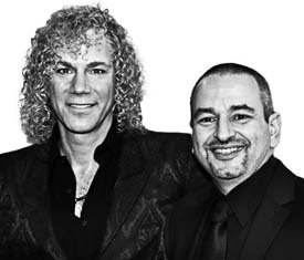 Composer/Bon Jovi keyboardist David Bryan and playwright Joe DiPietro