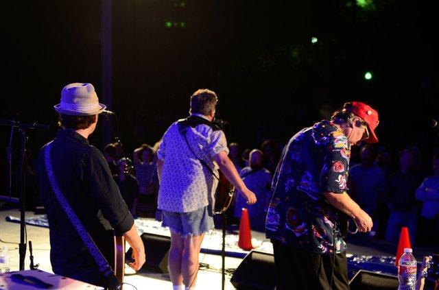 Greg Spradlin, Mojo Nixon, and Duff Dourough