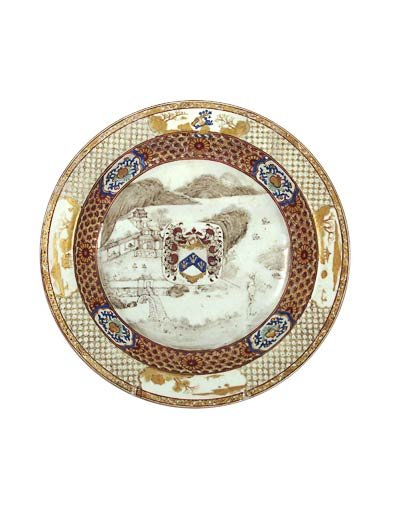 Chinese  SOUP PLATE, ca. 1725