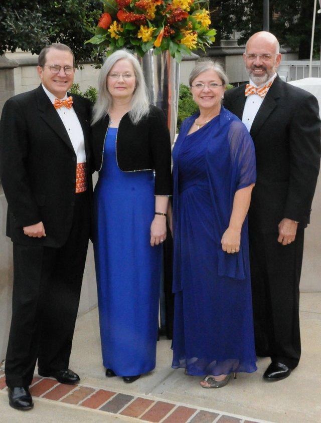 Steve Schwab (UTHSC Chancellor), Carol Schwab, Deb DiPietro & Joe DiPietro (UT President)