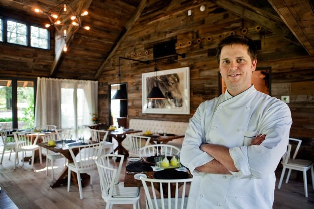 Chef Andrew Adams inside Acre restaurant in East Memphis
