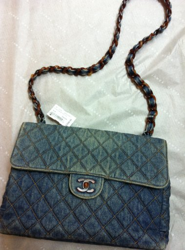 The only thing better than Chanel is vintage Chanel! This faded denim bag available at James Davis.