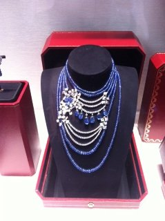 Staggering sapphire and diamond necklace at Cartier in NYC