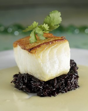"The ultimate ""signature dish"" in Memphis: Ben Smith's roasted sea bass on black Thai rice"