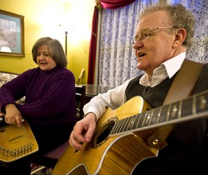Making music is a happy pastime for Pat and Marti Patchell.