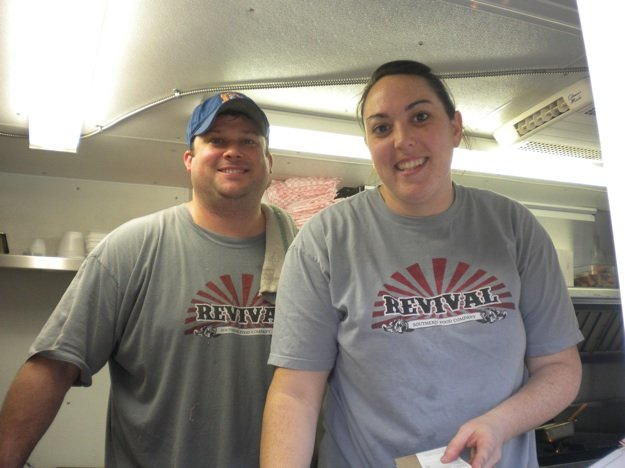 Crash Hethcox and Mary Ellen Rogers making it happen for Revival: Southern Food Truck.