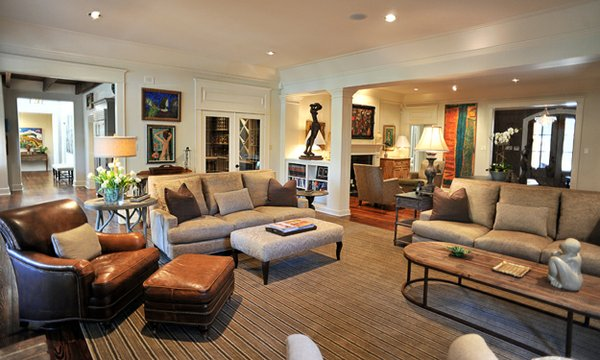 The large living room is as comfortable as it is beautiful.
