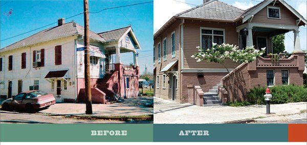 Griffin has long been active in New Orleans as well as Memphis, especially in the aftermath of hurricane Katrina. His transformation fo this early-twentieth century duplex in the Bayou St. John neighborhood of New Orleans was completed in 2011.