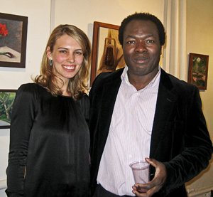 Musette Morgan with Samuel Adoquei