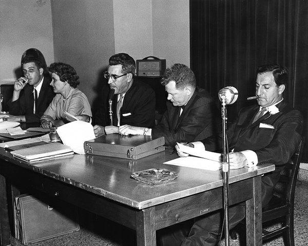 With Danny Thomas (Far Right), Hotel Claridge, 1961