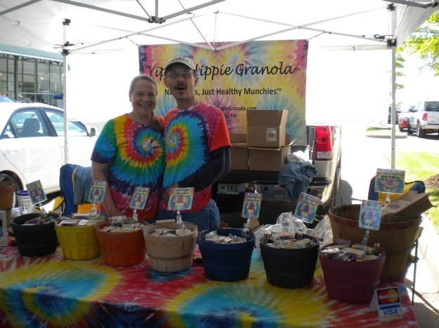 Malcolm and Jennifer Irvin make and sell Yippie Hippie Granola.