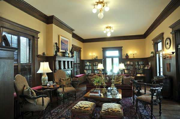 An Edwardian style study is the perfect bibliophile's retreat.