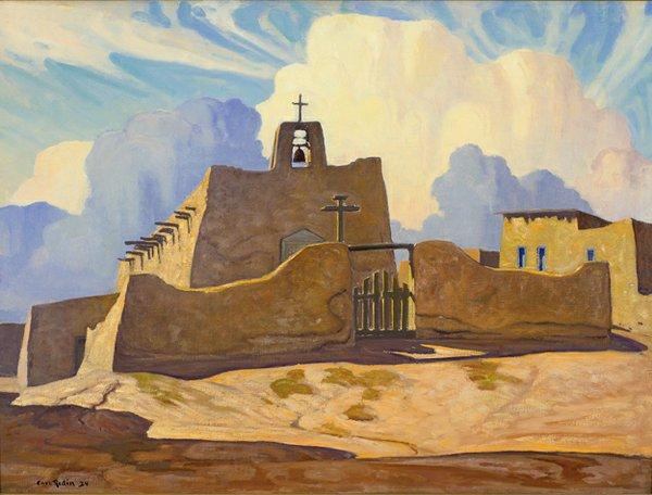 Redin, Carl - Cordova Church, New Mexico.jpg