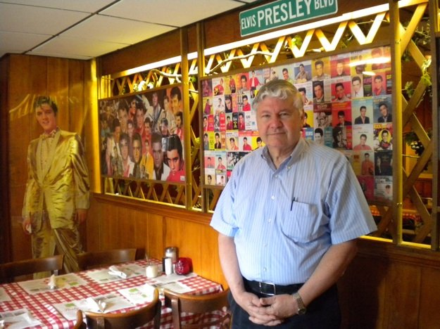 Jerry Coletta in the Elvis Room at Coletta's Restaurant on South Parkway.