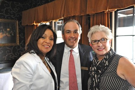 Estella Mayhue-Greer, Jeffrey Goldberg of MBQ and Contemporary Media, Inc. and Cynthia Ham