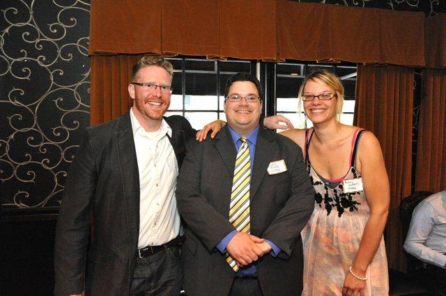 L to R:  Matt Writt, Greg Akers, and Ashley Johnston of MBQ: Inside Memphis Business