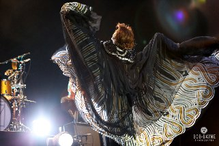 Florence of Florence + the Machine in her fabulous caftan!