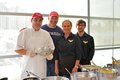 The Ziparo's Catering team: Eduardo Garcia, Joe Ziparo, Cheryl Heinz-Dinger and Will Knutson