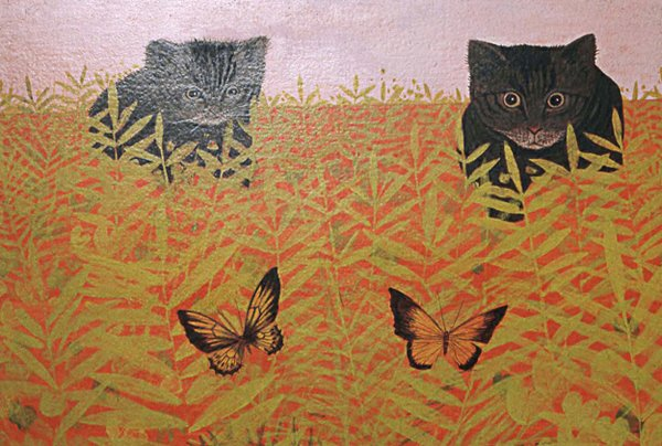 The Butterfly Hunters, 1961, painting by Carroll Cloar