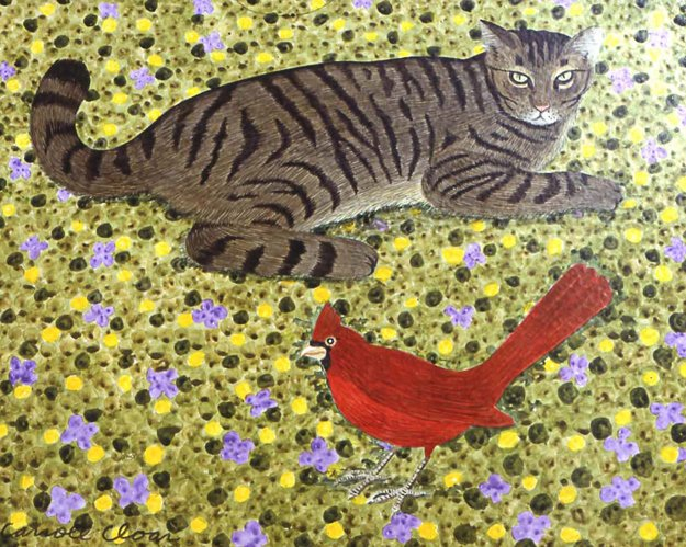Buddy, The Friendly Cat, 1971, painting by Carroll Cloar