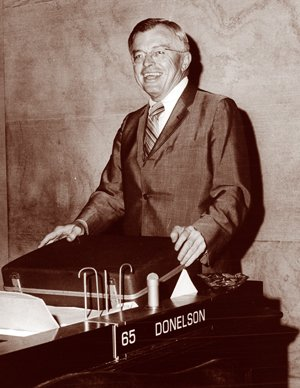 Lewie Donelson at City Hall in the late 1960's