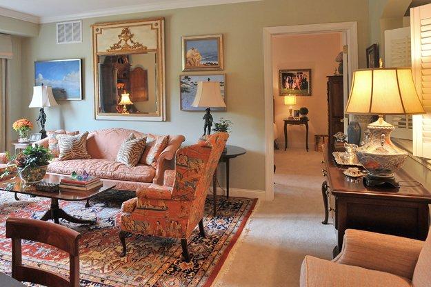 The living room at Trezevant Manor.