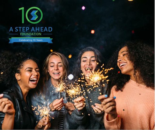 A Step Ahead Foundation 10th Anniversary Step Off