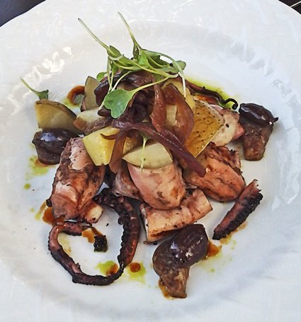 Octopus salad at Acre: Be bold and give this delicious dish a try.