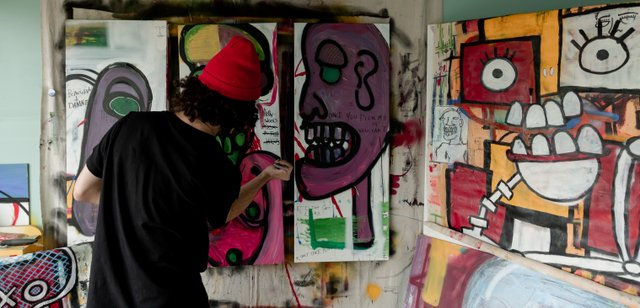 Anthony Sims in his studio.