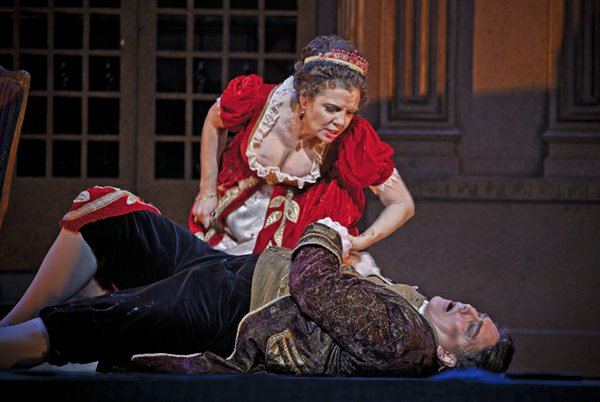 Scarpia gets his just desserts in Tosca, 2011.